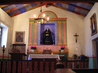 Interior of the mission chapel.