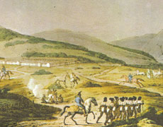 The Presidio of San Francisco. Drawing by Louis Choris in November 1817.